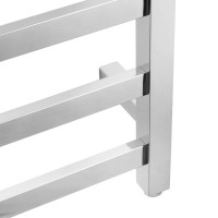 912x620x120mm Square Chrome Electric Heated Towel Rack 8 Bars
