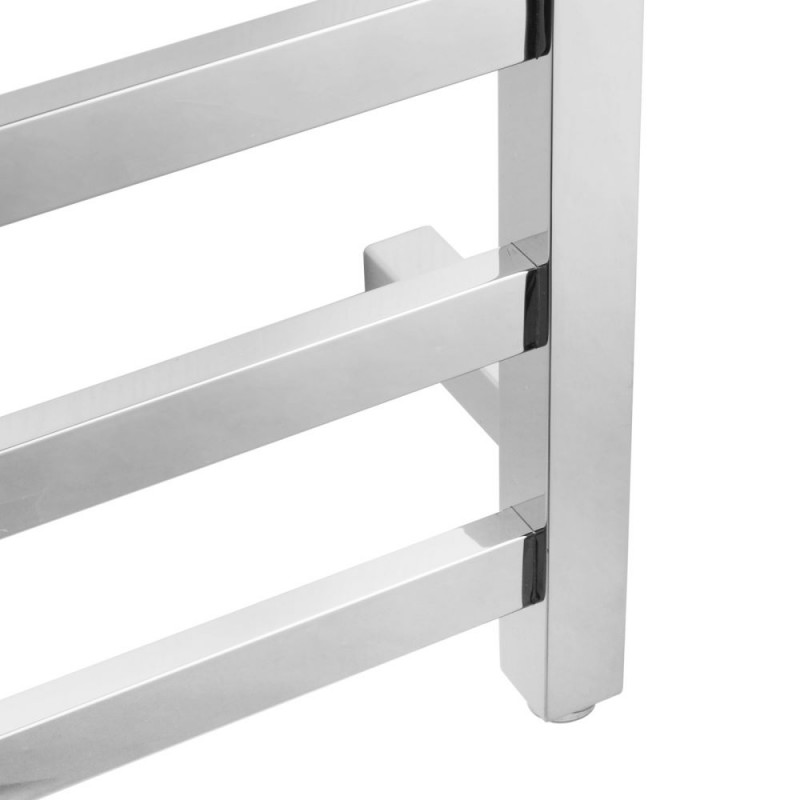 Square Chrome Electric Heated Towel Rack 9 BarsZNY-S-09