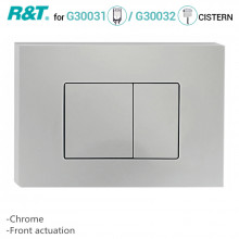 R&T Toilet Button for In-wall Concealed Cistern Chrome Surface G3004109