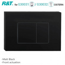 R&T Toilet Button for In-wall Concealed Cistern Matt Black Surface G3004109B