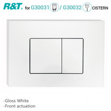 R&T Toilet Button for In-wall Concealed Cistern Gloss White Surface G3004109W
