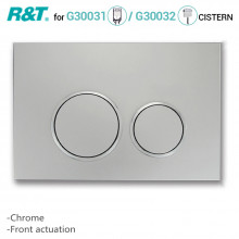 R&T Toilet Button for In-wall Concealed Cistern Chrome Surface G3004111