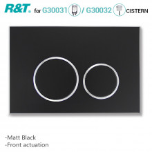 R&T Toilet Button for In-wall Concealed Cistern Matt Black Surface G3004111B