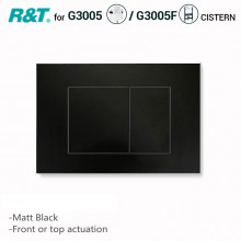 R&T Toilet Button for In-wall Concealed Cistern Matt Black Surface G3005008B