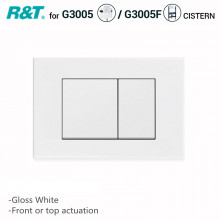 R&T Toilet Button for In-wall Concealed Cistern Gloss White Surface G3005008W