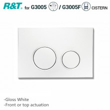 R&T Toilet Button for In-wall Concealed Cistern Gloss White Surface G3005071W