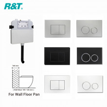 R&T Frameless Inwall Concealed Cistern for Wall Floor Toilet Pan Chrome Black White Push Button Available