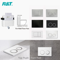 R&T Frameless Low Level In-wall Cistern For Wall Faced Toilet Pan Top or Front Flush Buttons Available