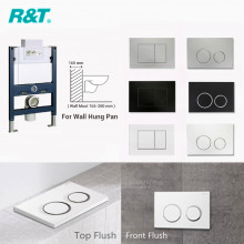 R&T Framed Low Level In-wall Cistern For Wall Hung Toilet Pan Top or Front Flush Button Available