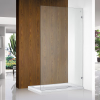 From 400 to 1200x2000mm Shower Screen Frameless Single Door Fixed Panel Chrome Aluminum 10mm Tempered Glass Left or Right Side
