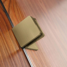 750/900x1500mm Bathtub Shower Screen Fixed Panel Brushed Gold Fittings 10mm Tempered Glass