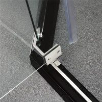 900/1000mm Diamond Shape Shower Screen Pivot Door Chrome Framed 6mm Safety Glass 1900mm Height