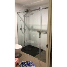 2000-2500mm Shower Screen Wall to Wall Sliding Door Chrome / Matt Black / Brushed Nickel Stainless Steel Frameless 10mm Glass 3 Panels