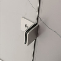 From 800mm to 1200mm Square Shower Screen Pivot Door With Return Panel Chrome Frameless 10mm Glass 2000mm Height