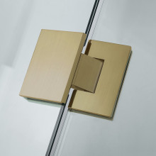 685-1400mm Wall to Wall Shower Screen Hinge and Door Panel Brushed Gold Fittings Frameless 10mm Glass