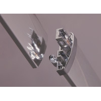 From 1400 to 2250mm Wall to Wall Shower Screen Framed Double Sliding Chrome Fittings Tempered Glass 1900mm Height