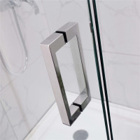 800-1100x2000mm Shower Screen Wall to Wall Adjustable Pivotal Door Chrome Aluminum Frameless 10mm Glass