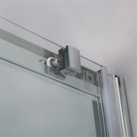 1040-1750x1900mm Shower Screen Sliding Door Wall to Wall Adjustable Chrome Aluminum Framed 6mm Glass