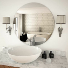 Custom Made Cut to Size Mirror Frameless Pencil / Beveled Edge Wall Mounted Copper Free 6mm Thick