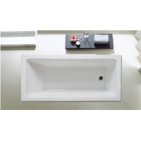1470x750x450mm Square Drop in Bathtub Acrylic Gloss White Built in Bath tub Shower Bath