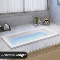 1700x789x442mm Square Drop in Bathtub Acrylic Gloss White Built in Bath tub
