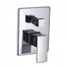 Ottimo Chrome Bath/Shower Mixer with Diverter Solid Brass