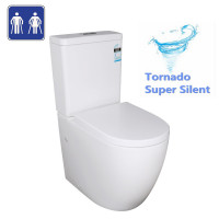 660x390x885mm Elvera Tornado Ambulant Toilet Suite Ceramic Back To Wall Back/Left and Right Bottom Inlet