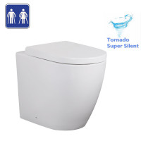 630x360x450mm Elvera Tornado Flushing Wall Faced Floor Toilet Pan WELS WATERMARK S TRAP P TRAP