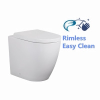 555x360x450mm Elvera Wall Faced Toilet Pan with Rimless Pan for bathroom