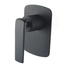 Norico Esperia Black Solid Brass Wall Mounted Mixer for shower and bathtub