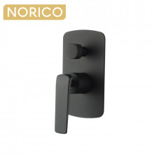 Norico Esperia Black Solid Brass Wall Mounted Mixer with Diverter for shower and bathtub