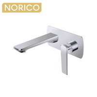 Norico Esperia Chrome Solid Brass Wall Mixer with Spout for bathtubs