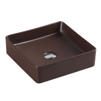 360x360x110mm Square Cappucino Above Counter Top Ceramic Basin Wash Basin