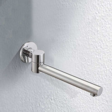 Euro Chrome Solid Brass Round Wall Spout with 180 Swivel for bathtub