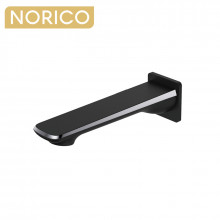 Norico Esperia Chrome & Matt Black Solid Brass Wall Spout for bathtub and basin