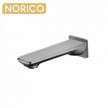 Norico Esperia Brushed Nickel Solid Brass Wall Spout for bathtub and basin