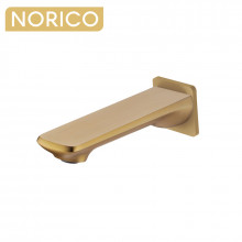 Norico Esperia Brushed Yellow Gold Solid Brass Wall Spout for bathtub and basin