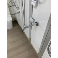 Euro Chrome Solid Brass Round Wall Spout for bathroom