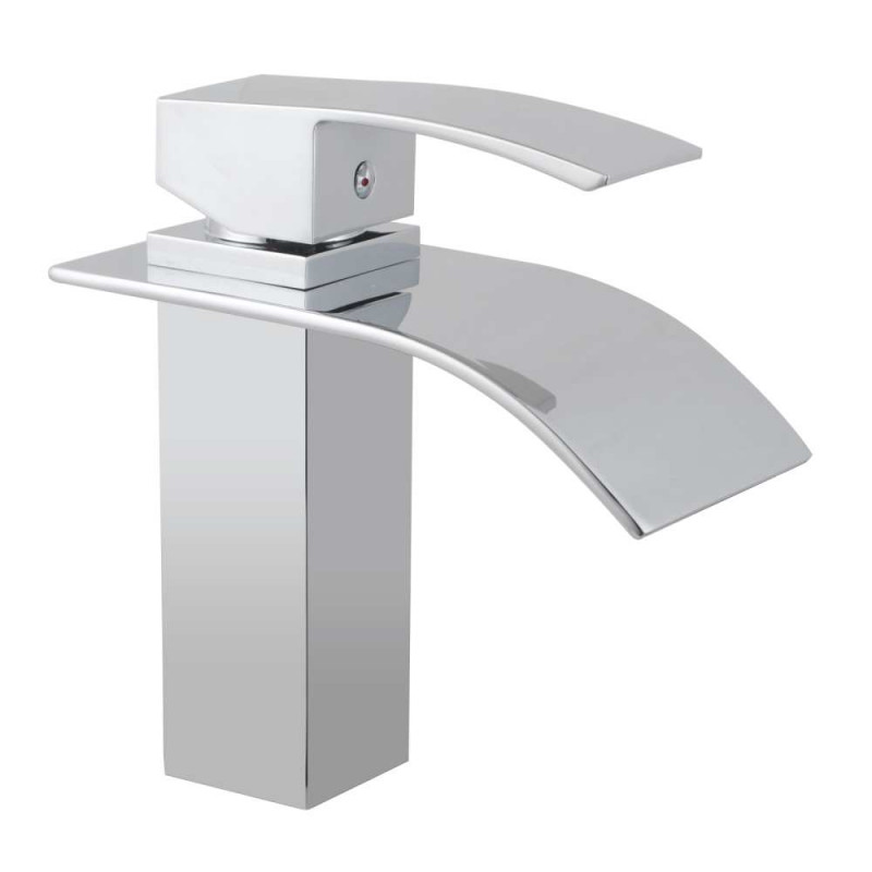 Omar Chrome Waterfall Basin Mixer FA0110