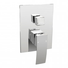 Omar Chrome Bath/Shower Mixer with Diverter Wall Mounted