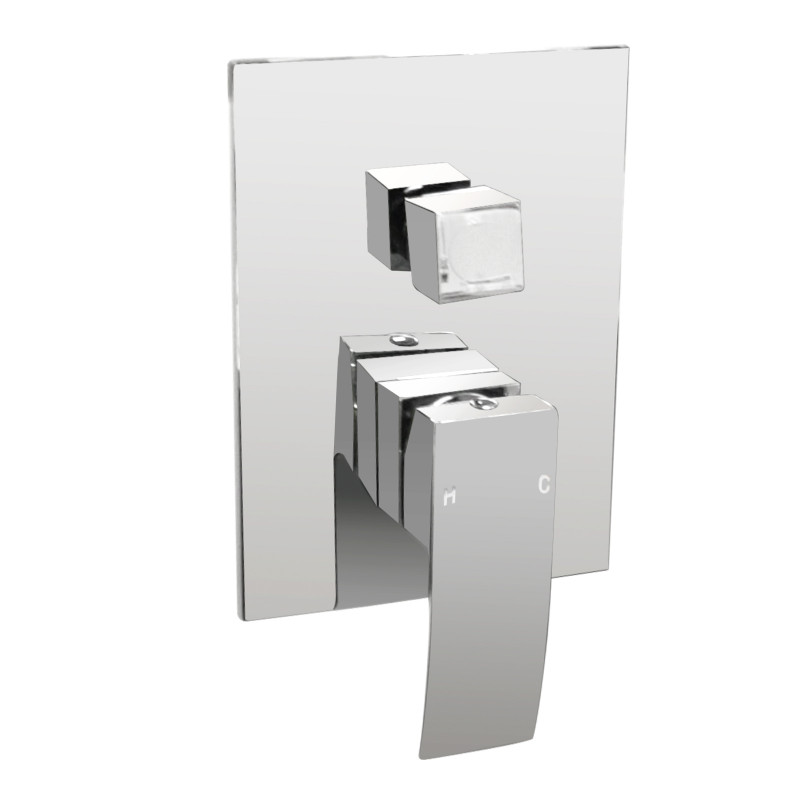 Omar Chrome Bath/Shower Mixer with Diverter Wall Mounted FA0115C-H1
