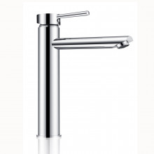 Euro Solid Brass Round Chrome Tall Basin Mixer Vanity Mixer Tap
