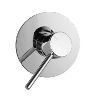 Euro Round Chrome Shower/Bath Wall Mixer
