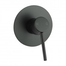 Euro Round Nero Black Shower/Bath Wall Mixer