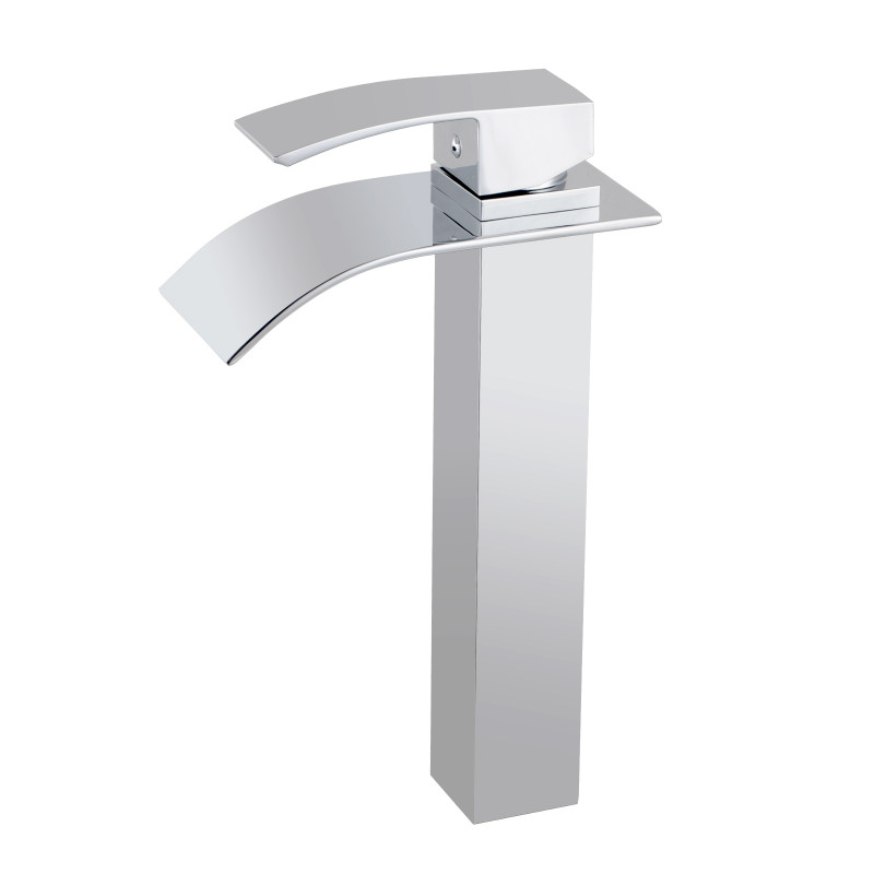 Omar Chrome Waterfall Tall Basin Mixer FA0130