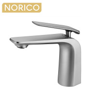 Norico Esperia Brushed Nickel Solid Brass Mixer Tap for basins