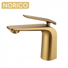 Norico Esperia Brushed Yellow Gold Solid Brass Mixer Tap for basins