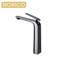 Norico Esperia Chrome and Matt Black Solid Brass Tall Basin Mixer