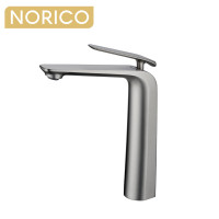 Norico Esperia Brushed Nickel Solid Brass Tall Basin Mixer