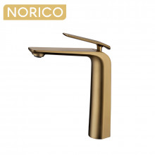 Norico Esperia Brushed Yellow Gold Solid Brass Tall Basin Mixer